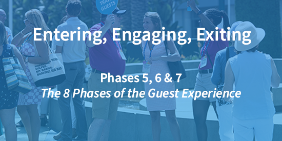 entering and engaging at an event